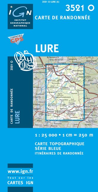 Carte IGN : 3521O - Lure (Gps)