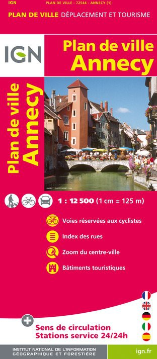 Plan IGN d'Annecy - Recto
