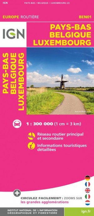 Carte Europe Pays Bas.Carte Routiere Ign Europe Pays Bas Belgique Luxembourg