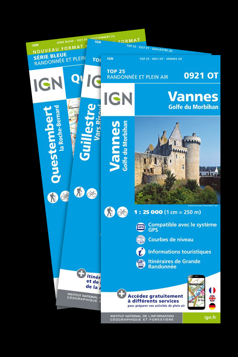 Pack Région : Cartes IGN 1:25.000