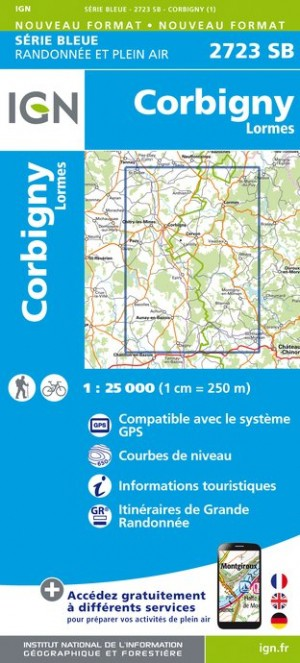 Carte Ign Top 25 Serie Bleue Corbigny Lormes