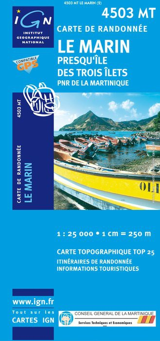 Carte IGN Top 25 / Série Bleue   Martinique