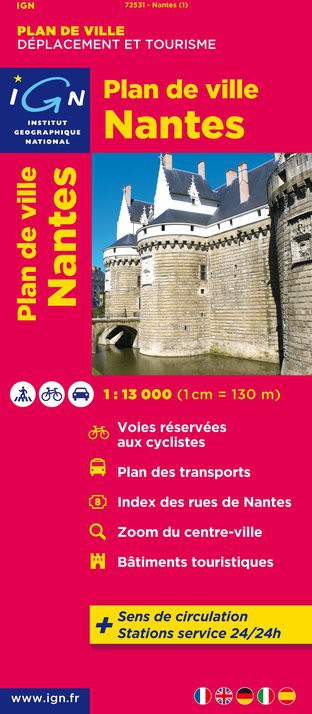 Plan de ville IGN Nantes - Recto