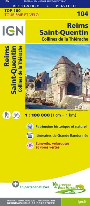 Carte Touristique - Reims/Saint-Quentin - Recto