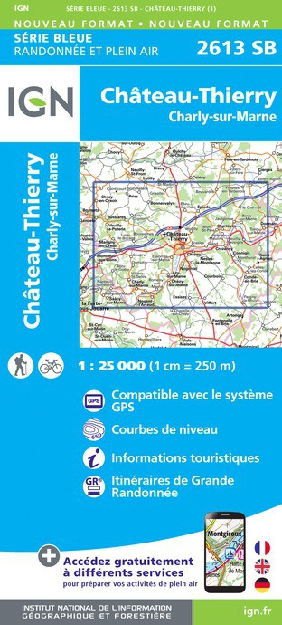 CHÂTEAU-THIERRY.CHARLY-SUR-MARNE (Carte)