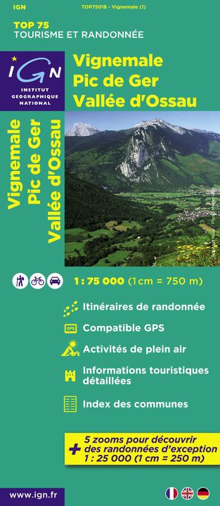 Top75 IGN - Vignemale - Pic de Ger - Vallée d'Ossau - Recto