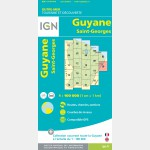 Carte Guyane Saint-Georges IGN - recto