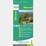 Carte IGN Top75 - Morvan - Recto