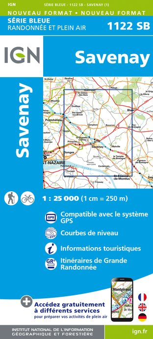 Carte IGN : 1122SB - Savenay