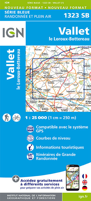 Carte IGN : 1323SB - Vallet / Le Loroux-Bottereau