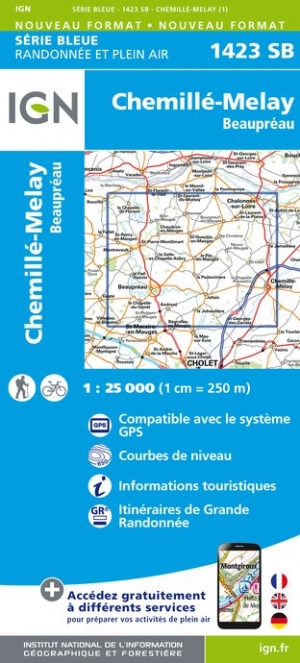 Carte IGN : 1423SB - Chemillé-Melay / Beaupreau