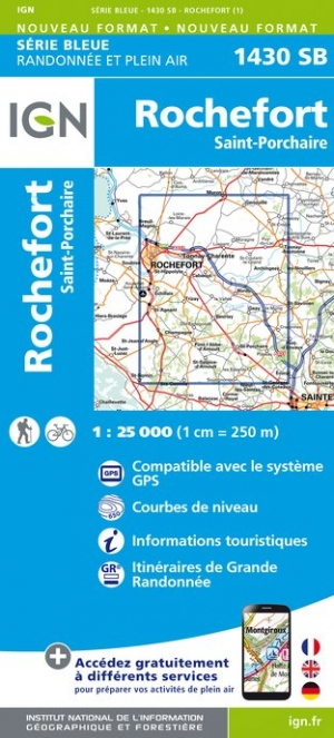 Carte IGN : 1430SB - Rochefort / Saint-Porchaire