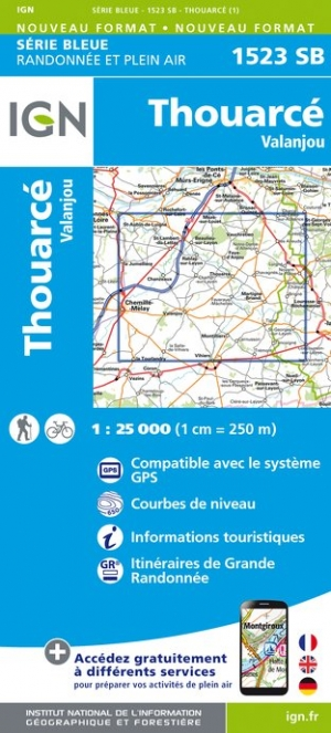 Carte IGN : 1523SB - Thouarcé / Valanjou