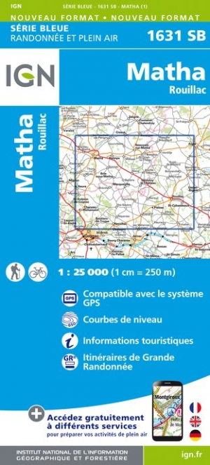 Carte IGN : 1631SB - Matha / Rouillac