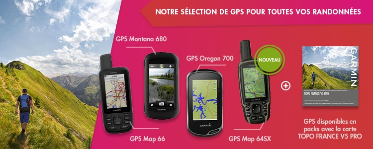 GPS outdoor Garmin + Garmin TOPO France V5 Pro