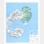 Îles Kerguelen Est (Carte)