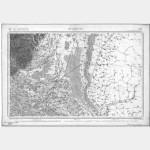 Carte de l'état-major  - Feuille 101 MULHOUSE - Taille Douce