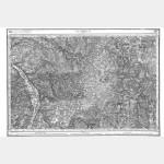 Carte de l'état-major  - Feuille 110 CLAMECY - Taille Douce