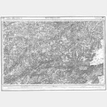 Carte de l'état-major  - Feuille 114 MONTBELIARD - Taille Douce