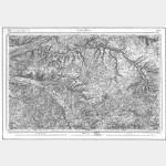 Carte de l'état-major  - Feuille 120 LOCHES - Taille Douce