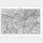 Carte de l'état-major  - Feuille 122 BOURGES - Taille Douce