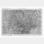 Carte de l'état-major  - Feuille 124 CHÂTEAU-CHINON - Taille Douce