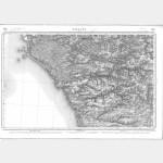 Carte de l'état-major  - Feuille 129 PALLUAU - Taille Douce