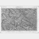 Carte de l'état-major  - Feuille 130 la ROCHE-SUR-YON - Taille Douce