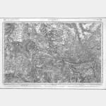 Carte de l'état-major  - Feuille 134 ISSOUDUN - Taille Douce