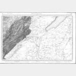 Carte de l'état-major  - Feuille 139 PONTARLIER - Taille Douce