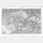 Carte de l'état-major  - Feuille 141 FONTENAY - Taille Douce