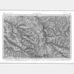 Carte de l'état-major  - Feuille 144 AIGURANDE - Taille Douce