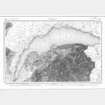 Carte de l'état-major  - Feuille 150 THONON - Taille Douce