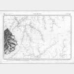 Carte de l'état-major  - Feuille 160 Ter VALLORCINE - Taille Douce