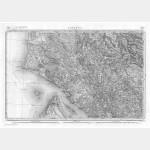 Carte de l'état-major  - Feuille 161 SAINTES - Taille Douce