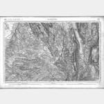 Carte de l'état-major  - Feuille 169 CHAMBERY - Taille Douce