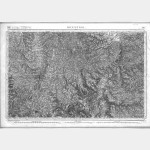 Carte de l'état-major  - Feuille 176 MONISTROL - Taille Douce