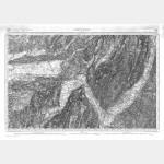 Carte de l'état-major  - Feuille 178 GRENOBLE - Taille Douce