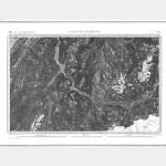 Carte de l'état-major  - Feuille 179 ST-JEAN de MAURIENNE - Taille Douce