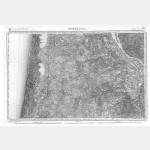 Carte de l'état-major  - Feuille 180 BORDEAUX - Taille Douce