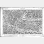 Carte de l'état-major  - Feuille 181 LIBOURNE - Taille Douce