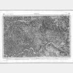 Carte de l'état-major  - Feuille 183 BRIVE - Taille Douce