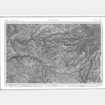Carte de l'état-major  - Feuille 184 AURILLAC - Taille Douce