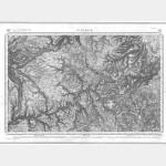 Carte de l'état-major  - Feuille 185 ST-FLOUR - Taille Douce