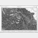 Carte de l'état-major  - Feuille 189 BRIANCON - Taille Douce