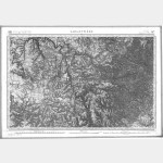 Carte de l'état-major  - Feuille 197 LARGENTIERE - Taille Douce