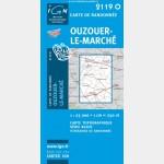 Série Bleue IGN - Ouzouer - Recto