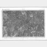 Carte de l'état-major  - Feuille 212 DIGNE - Taille Douce