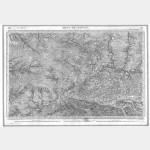 Carte de l'état-major  - Feuille 215 MONT-DE-MARSAN - Taille Douce