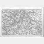 Carte de l'état-major  - Feuille 21 MONTDIDIER - Taille Douce